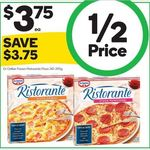 ½ Price Dr Oetker Ristorante Pizza $3.75 @ Woolworths