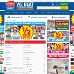 Chemist Warehouse 1/2 Price on Vitamins (Incl Swisse Blackmores Natures Own etc)