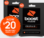 Boost Mobile $40 Unlimited Prepaid SIM for $20 Delivered (5GB + 1GB/Weekend - Get up to 9GB)