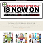 Black Friday Sale up to 50% off @ Australian Organic Products and More