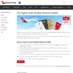 Qantas Double Status Credits on Eligible Qantas Flights