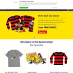 World Book Day (1st March) Special - 15% off Various Beano Clothing + Free Copy of Beano