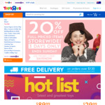 20% off Full Priced Items @ Toys R US