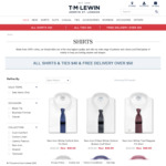 TM Lewin Sale - All Shirts/Ties $40 / Free Delivery over $50
