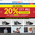 SportsDirect AU 20% off Shoes + $1.99/£.99 Shipping
