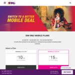 TPG Mobile: $20/M 4GB + Unlimited Calls/SMS, $30 10GB (Was 4GB) + 100 Int Min, $35 15GB (Was 9GB), $40 20GB (Was 12GB)