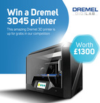 Win a Dremel 3D45 3D Printer Worth $2,275 from Scan