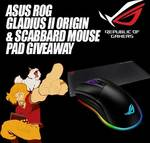 Win an ASUS ROG Gladius II Optical Gaming Mouse & Scabbard Mouse Pad Worth $188 from Maximilian