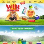 Win a Share of $95,344 Worth of Camping Prizes from Golden Circle [With Purchase]