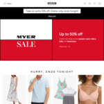10% off Selected Categories (Exclusions Apply) @ Myer Online