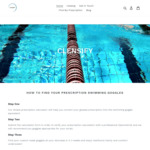 Subscribe to Receive 10% off Sitewide Custom Prescription Swimming Goggles (Starting Price $53 + $10 Shipping) @ Clensify