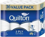 36 Pack Quilton 3ply Toilet Paper $14 @ Woolworths