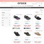 70% off Select Styles + Additional 20% off on $100 Spend + Free Shipping No Minimum Spend @ Crocs Australia