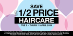 1/2 Price Haircare (Some Exclusions) @ Priceline