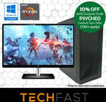 "Ryzen 5 2600 GTX 1660 Ti 6GB 120GB SSD 8GB DDR4 Gaming PC + 24"" FHD Monitor + Wired Keyboard/Mouse $809.10 @ Techfast eBay"