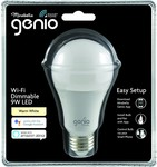 Mirabella LED Genio Wi-Fi Dimmable ES Globe $14 @ Big W