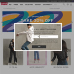 30% off Storewide with Free Shipping @ Levi's