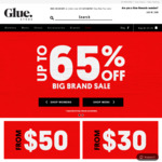 Up to 65% off Selected Styles + Free Delivery for Orders > $50 @ Glue Store