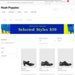 Selected Men's & Women's Shoes $50 + $9.95 Shipping / Pick up @ Hush Puppies