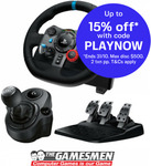 Logitech G29 Driving Force Racing Wheel for PS4 / PC + Driving Force Shifter $337.41 Delivered @ The Gamesmen eBay