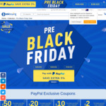 GeekBuying Pre Black Friday Sale - $2 off $10+, $10 off $100+, $20 off $200+ & $50 off $500+ (USD) with PayPal