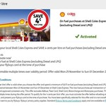 Save 4c/L @ Shell Coles Express via Flybuys