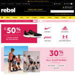 30% off All Clothing @ rebel