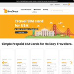 15% off for All Travel Sim Cards @ SimsDirect