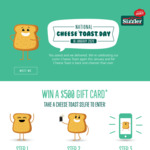 [QLD, NSW, WA] Free Cheese Toast (No Purchase Required) @ Sizzler