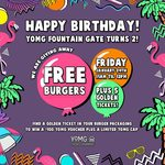 [VIC] Free Burgers 11am-12pm Friday (24/1) @ YOMG (Fountain Gate)
