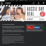 Adult Movie Ticket + Large Frozen Coke - $15 + BF ($20 + BF for Vmax) @ Event Cinemas (26/1/20 Only, Cinebuzz Membership Req)