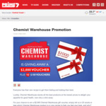 Win a $2,000 Chemist Warehouse Gift Voucher from Prime7 (Regional Entrants Only)