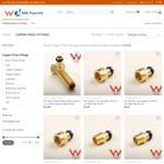 10% off Copper Press Fitting Products - LBP Test - from $1.74 Each + Delivery (Free over $500 Spend in Metro NSW) @ MW Penrith
