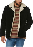 Wrangler Bakers Coat (Black, Corduroy) - $89.98 @ Myer