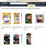 Save up to 45% in Select BIC Fashion Stationery + Delivery ($0 with Prime / $39 Spend) @ Amazon Australia