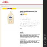 Redwin Sorbolene Moisturiser with Vitamin E, 1 Litre $3.12 (was $6.25) @ Coles