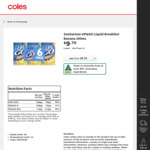 ½ Price Sanitarium Up&Go Liquid Breakfast 6x250ml $4.85 @ Coles