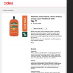 ½ Price - Palmolive Liquid Hand Wash Refills 1 Litre $3.25 @ Coles