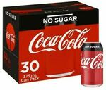 [eBay Plus] Coke Cans 30 Pack $15.56 + $10 Delivery (Free w/ $49 Spend) @ Coles eBay
