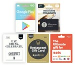 2,000 Flybuys (worth $10) on $50 Gift Cards: Google Play, Ultimate Eats, Restaurant Choice, Gourmet Traveller, Good Food @ Coles