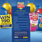 Win $90 Cash Instantly from The Smith's Snackfood Company