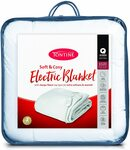 Tontine Soft & Cosy Sherpa Fleece Electric Blanket: Double $59, Queen $69 (RRP $98.95/ $109.95) @ Amazon AU/ Catch