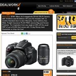 $789- Nikon 16.2 Megapixels D5100 Camera with 55-300mm VR Lens Kit Bonus Bag, protector + Trpd