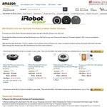 $50 Amazon.com Gift Card with Purchase of iRobot Robotic Vacuums‏ - Roomba 560, 650 & 760