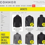 30% off Connor Mens Jackets + Free Shipping