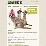 Zoos Victoria (for Lapsed Members) 15 Months for The Price of 12  =  $169 (2 Adults + Kids free)