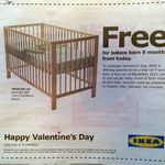 Free Cot from IKEA for Babies Born on Thursday 14/11/13