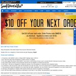 $10 off $100 Order at Surf Dive 'n' Ski with Free Delivery