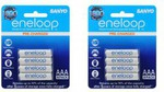 Eneloops AAA - 2x 4 Pack ($19.98) + $4.95 Post (or Possible Free Ship) @ DSE Ends 26/03