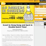Hong Kong Return Ex Perth $372 w/Scoot